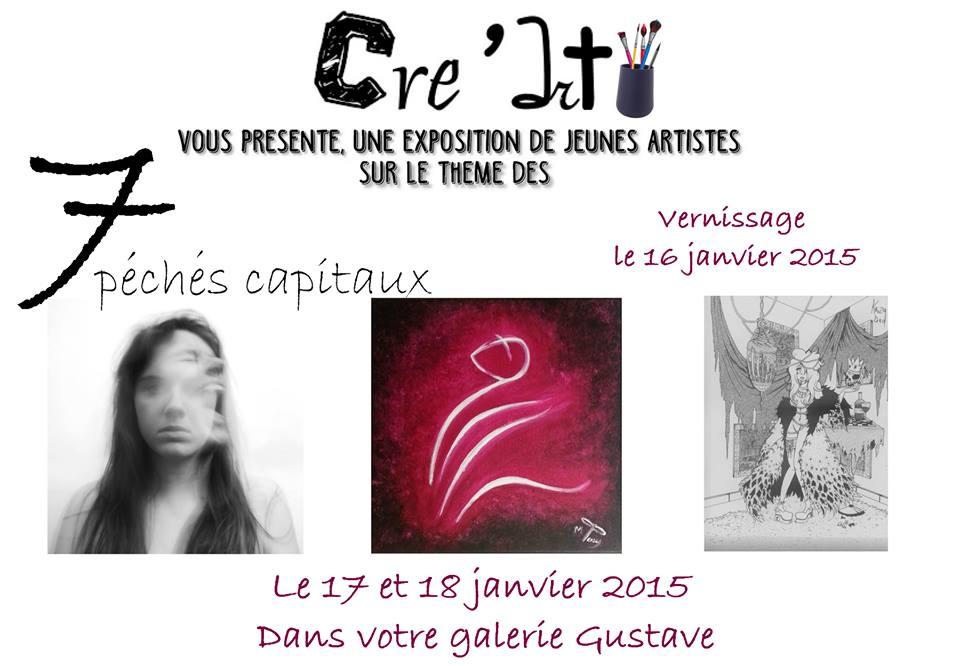 Invitation à l'exposition Cre'Art