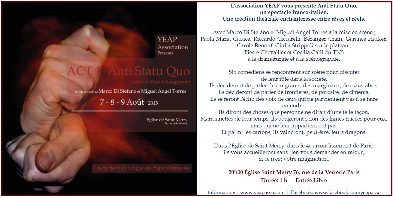 Act1: Anti Statu Quo -Le Theâtre