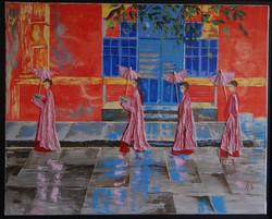 rythmes religieux des nonnes birmanes
