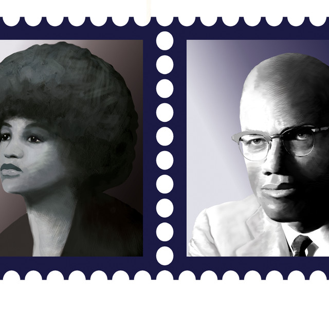Black History Month Postage Stamps Illustration