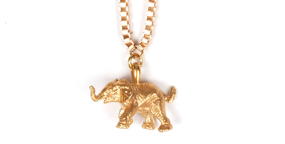 GOLDEN ELEPHANT PENDANT
