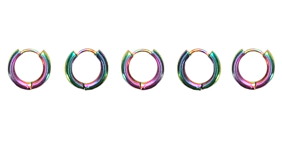 SOLAR RAINBOW HAIR JEWELLERY 5 PACK