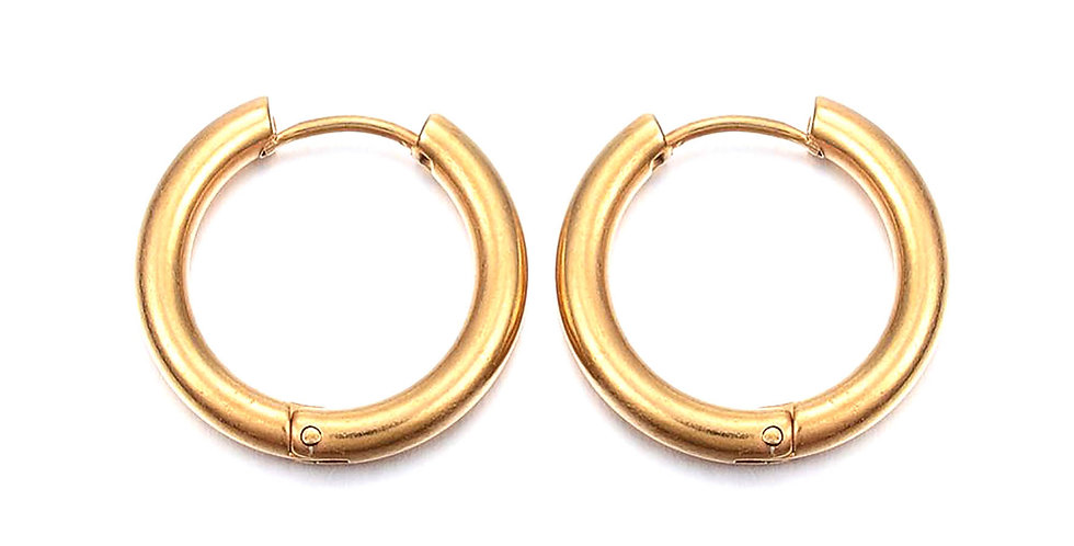 CAN YOU CLICK IT HOOP EARRINGS IN GOLD