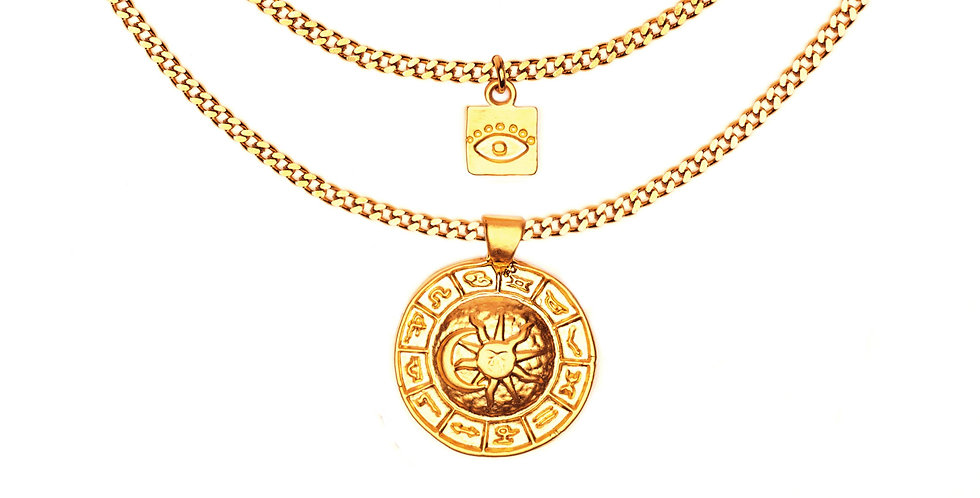 THE HERMETIC ORDER OF THE GOLDEN DAWN DOUBLE LAYERED NECKLACE