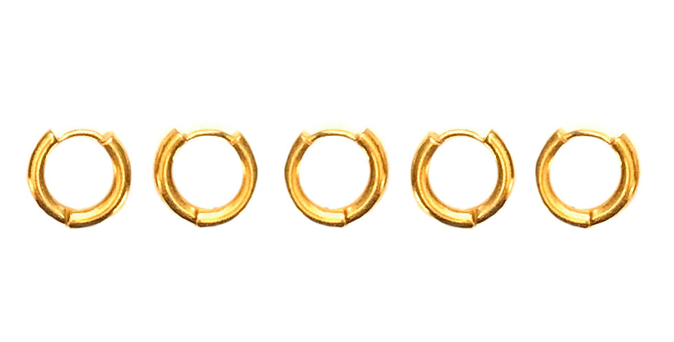 SOLAR GOLD HAIR JEWELLERY 5 PACK
