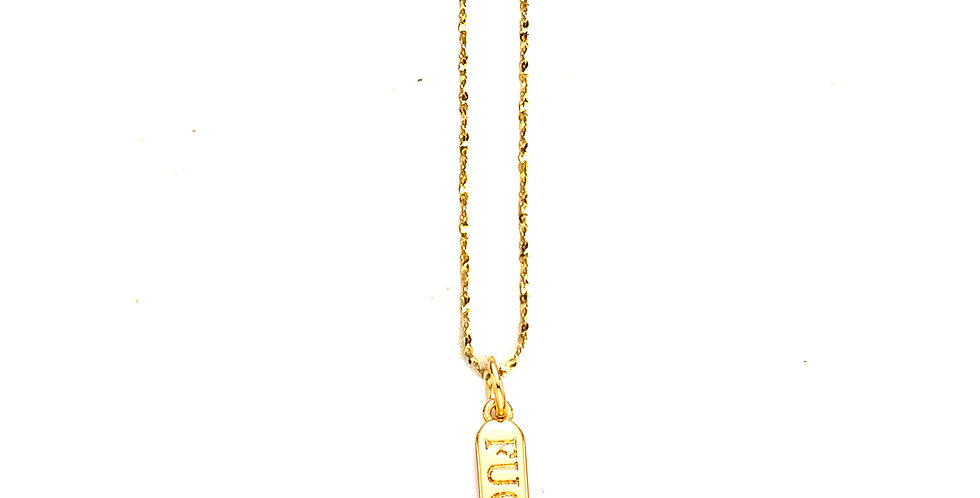 THE LITTLE F*CK SKINNY CHAIN NECKLACE