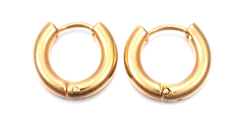 SOLAR GOLD EARHUGGER HOOP EARRINGS