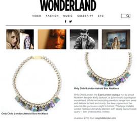 Wonderland Magazine ONLY CHILD feature 3