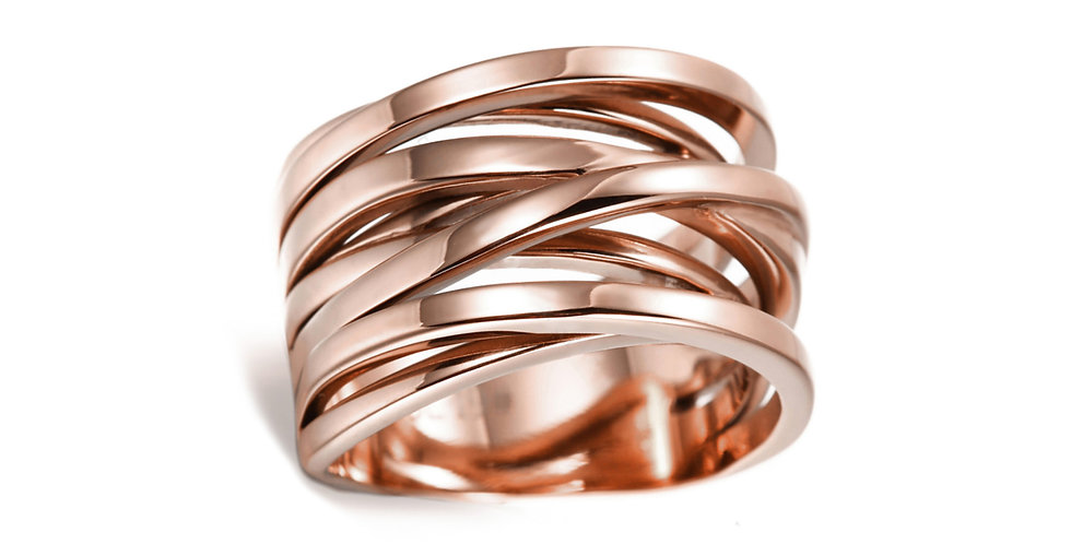 SUNRISE ORBITAL RING IN ROSE GOLD