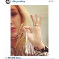 Ellie Goulding Instagram ONLYCHILD hand