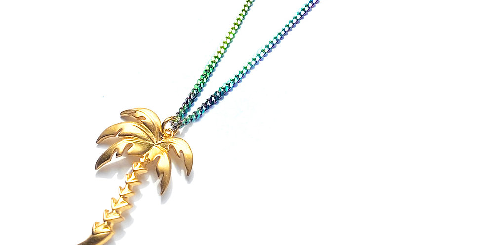 PALM TREE RAINBOW NECKLACE