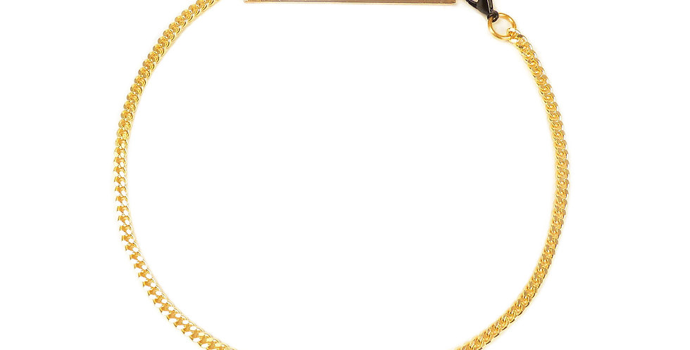OC GOLD TAG NECKLACE