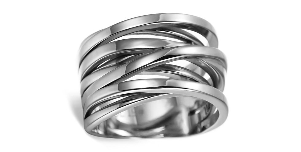 SUNRISE ORBITAL RING IN SILVER