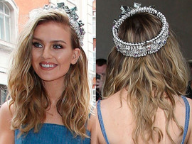 Perrie Edwards wearing ONLY CHILD crown