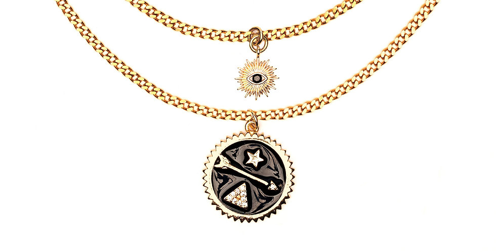 THE SECRET SOCIETY OF SUN RA DOUBLE LAYERED NECKLACE