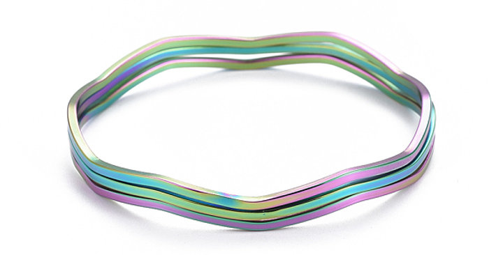 TRIPLE RAINBOW BANGLES (SET OF 3)