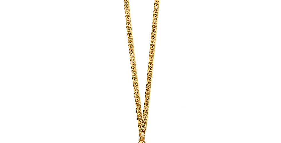 WHAM-BAM THANK-YOU CLAM HULA XL PENDANT IN GOLD