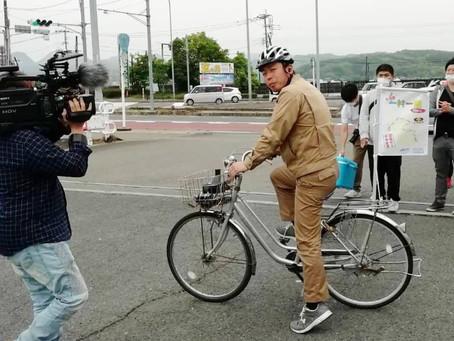 大分周遊PR事業 自転車リレー開催!