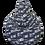Thumbnail: Grey printed XL size bean bag, water resistant