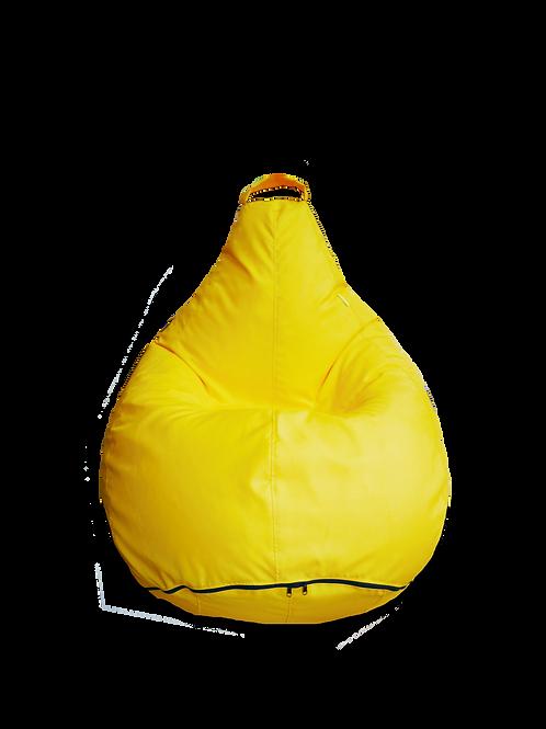 Bright yellow L size bean bag.