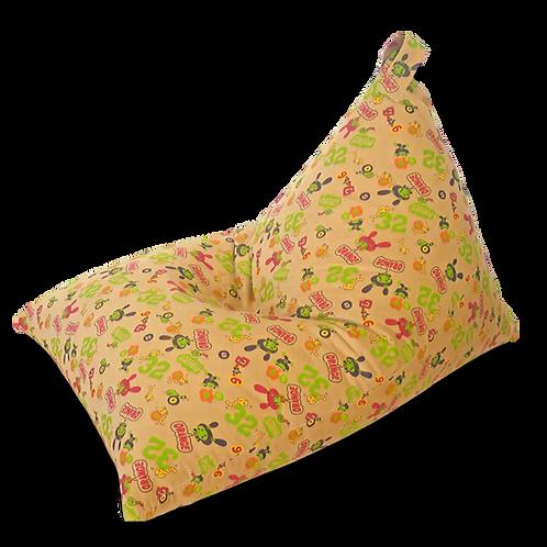Kids Pyramid Bean Bag, beige corduroy