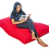 Thumbnail: Red cushion design bean bag, water resistant cover