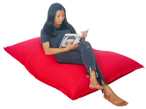Red cushion design bean bag, water resistant cover