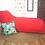 Thumbnail: Red Single Chaise Bean bag 150 cm long