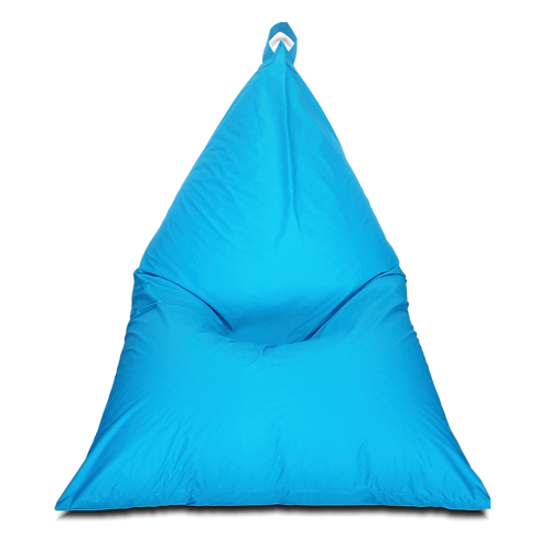 Ocean green Pyramid Chair bean bag, water resistant cover