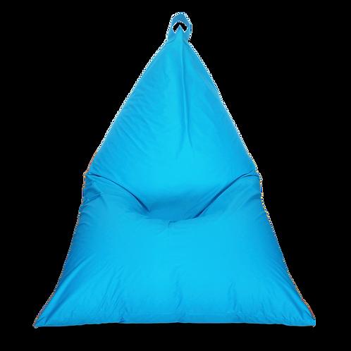 Ocean green Pyramid Bean Bag, water resistant cover