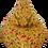 Thumbnail: Kids Bean Buddy M size, printed beige corduroy