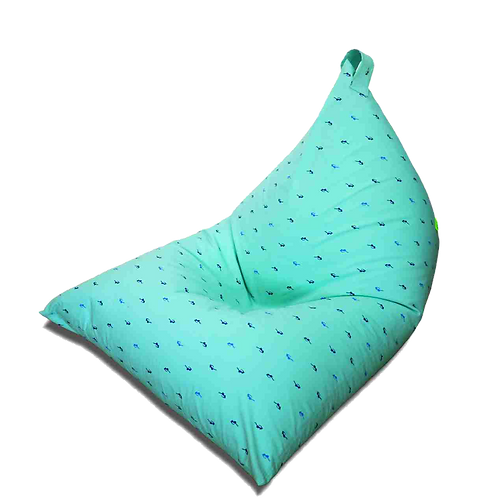 Kids Pyramid Chair bean bag, mint color