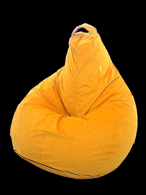 Mustard yellow corduroy XL size bean bag