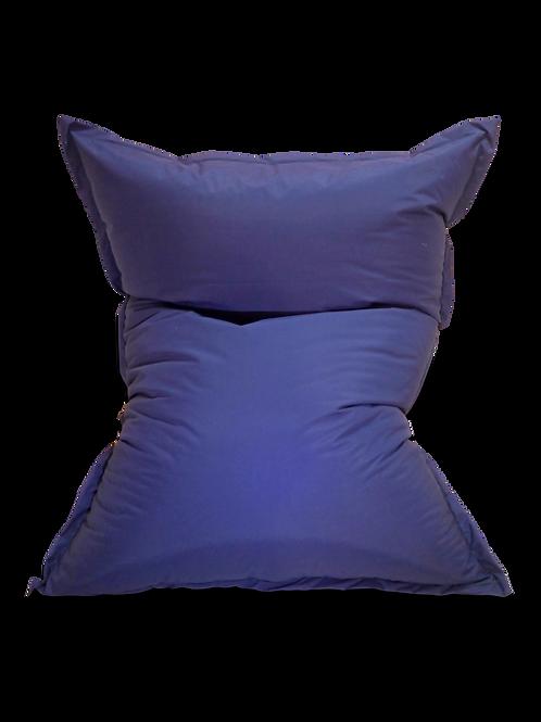 Navy Blue large pillow Bean bag, water resistant