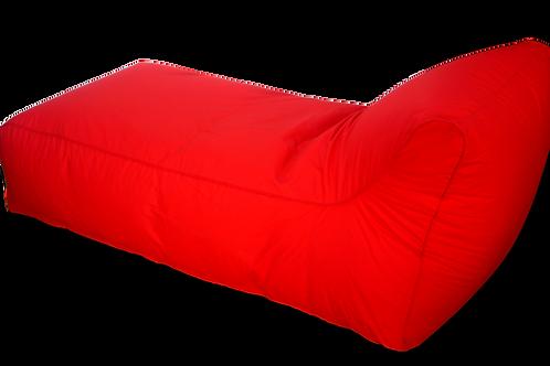Red Single Chaise Bean bag 150 cm long