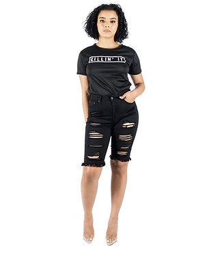 She's A Vibe Bermuda Jeans