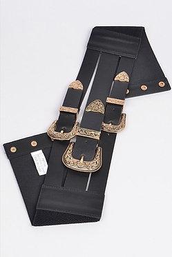 Midnight Train Belt (Silver and Black)