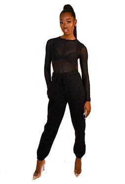 Vixen Long Sleeve Mesh Body Suit