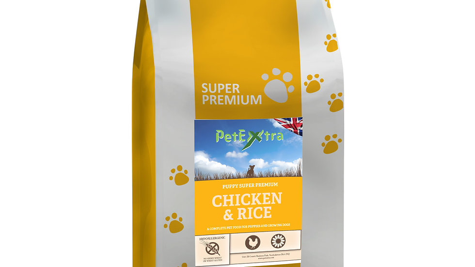 PetExtra Super Premium Puppy Food - Chicken & Rice