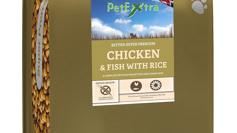 PetExtra Super Premium Kitten Food Chicken & Fish 2kg