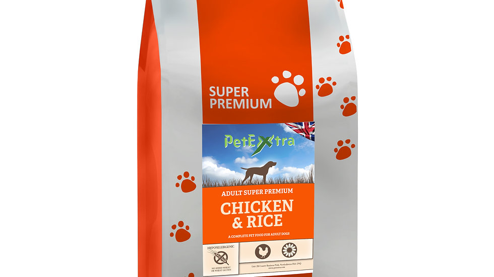 PetExtra Super Premium - Adult Dog - Chicken and Rice