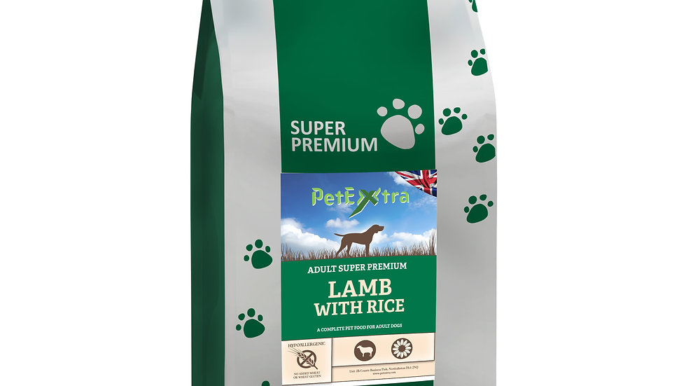 PetExtra Super Premium - Adult Dog - Lamb & Rice