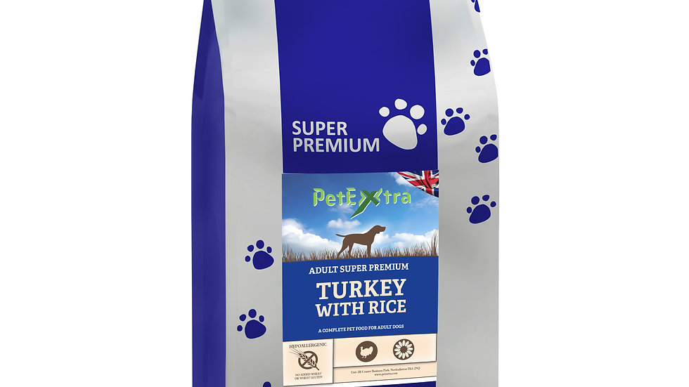 PetExtra Super Premium Adult Dog Turkey and Rice