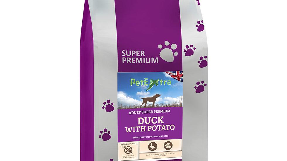 PetExtra Super Premium Dog Food Duck & Potato Grain Free