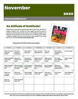 An Attitude of Grattitude - November 202