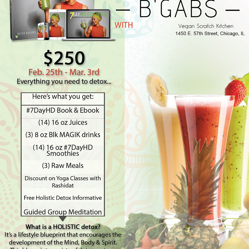 7 DAY HOLISTIC DETOX MADE EASY with BGabs