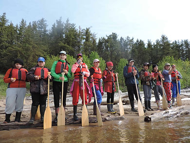 A group of people on a retreat at Aski Holistic Adventures