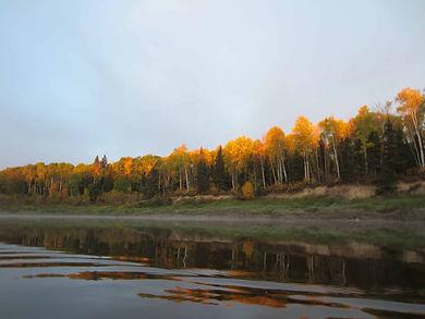 The Saskatchewan river in the fall