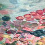 Bouquet de fleurs abstrait
