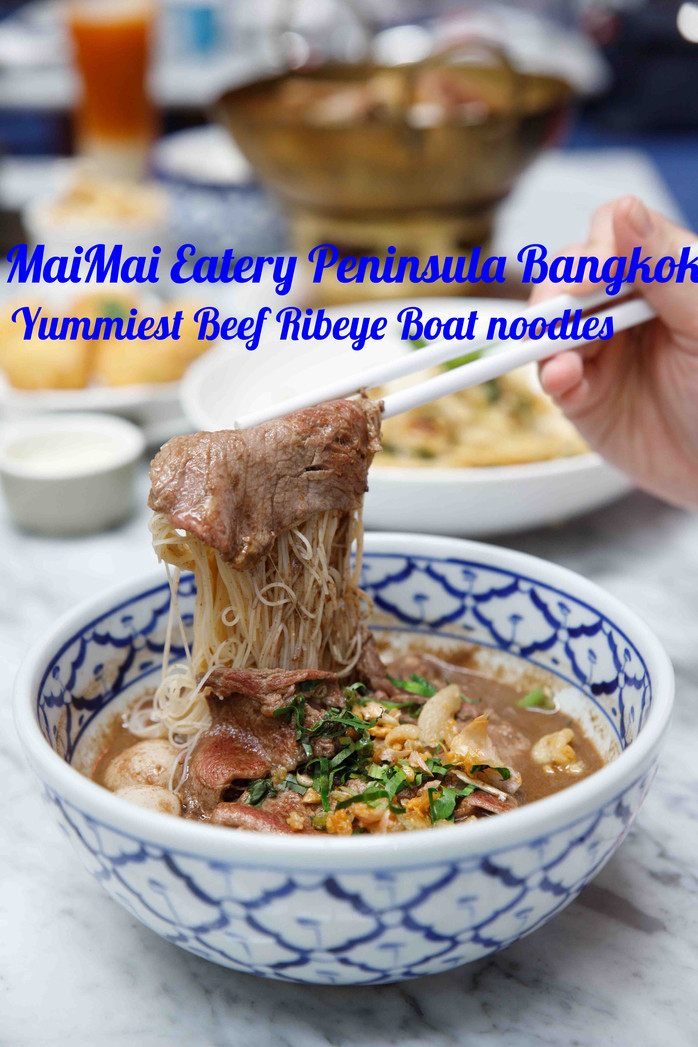 The Best Boat Noodles in Bangkok. Check them out at MaiMai Eatery in Peninsula Plaza Bangkok